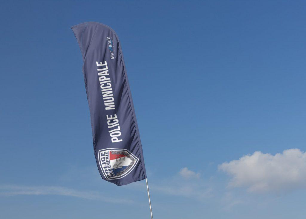 Beach Flag police
