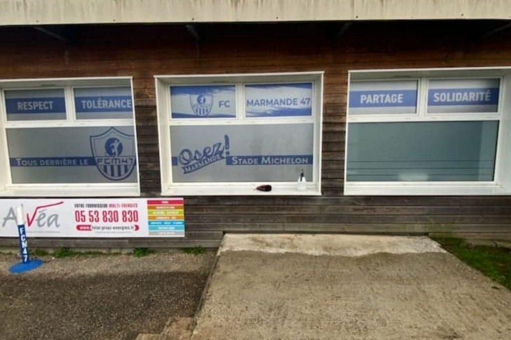 Marquage vitrine association