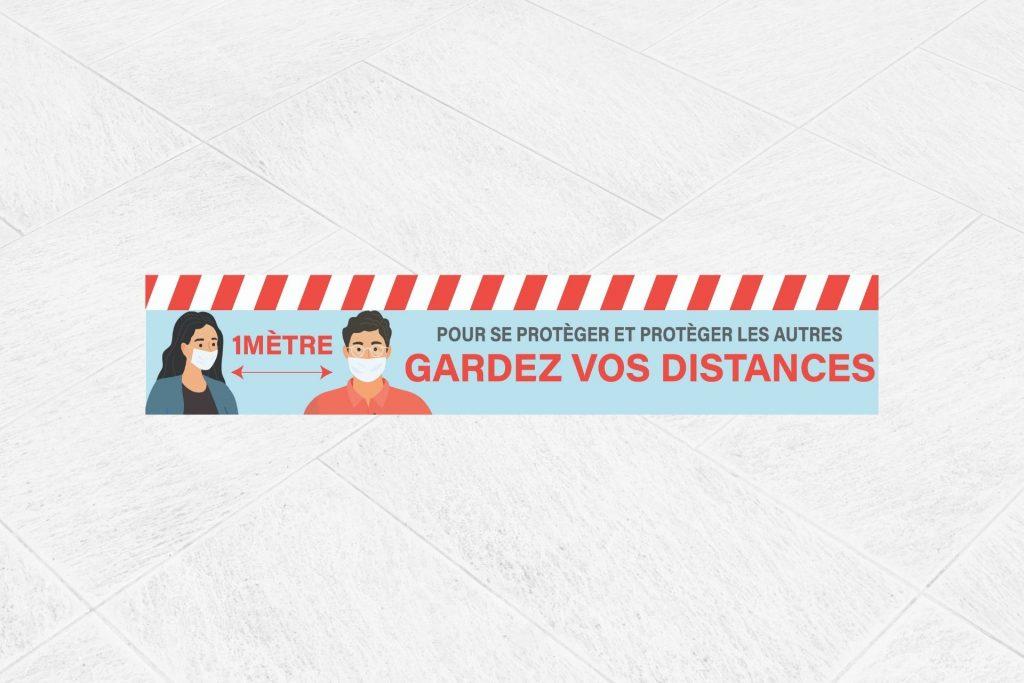 Adhésif sol distance