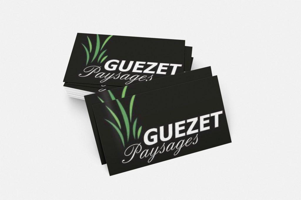 Carte de visite Guezet Paysagesages