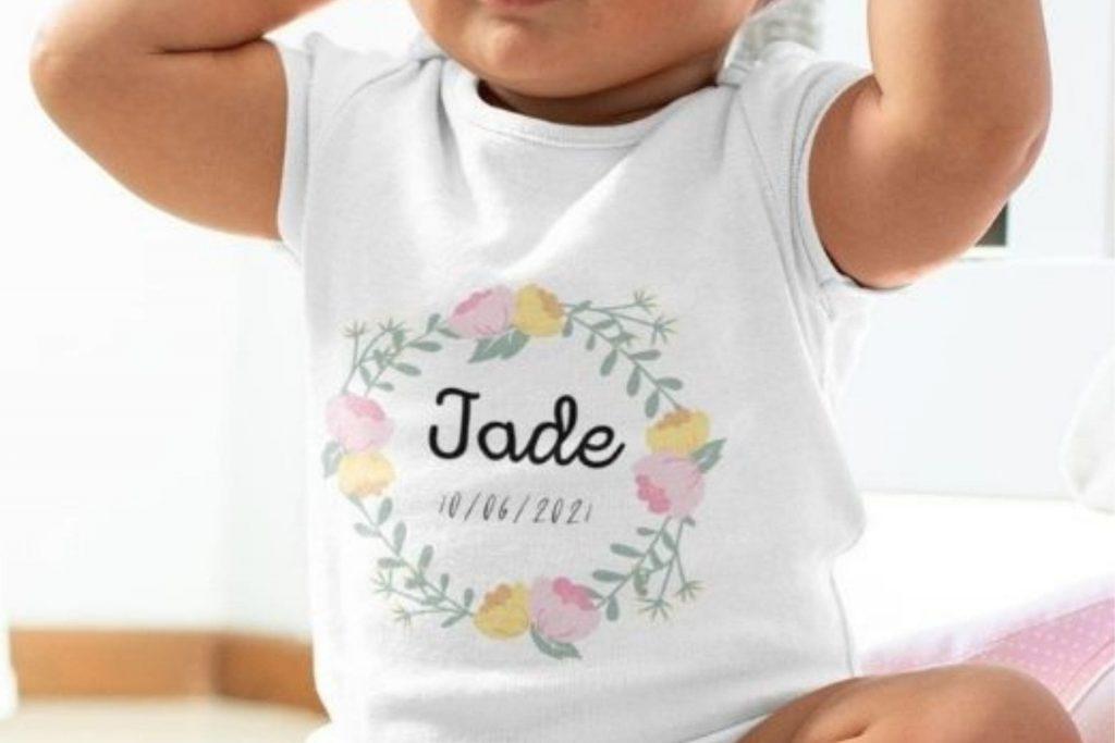 Body baby personnalisé nom