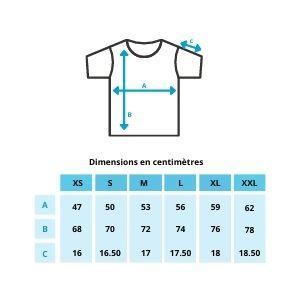 Guide des tailles tshirt