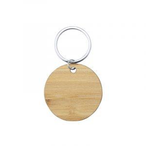 Porte clés en bois rond