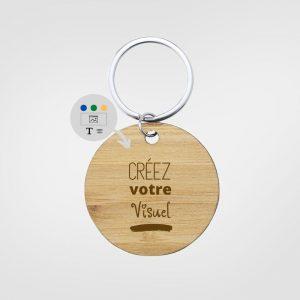 Portes clé en bois personnalisé