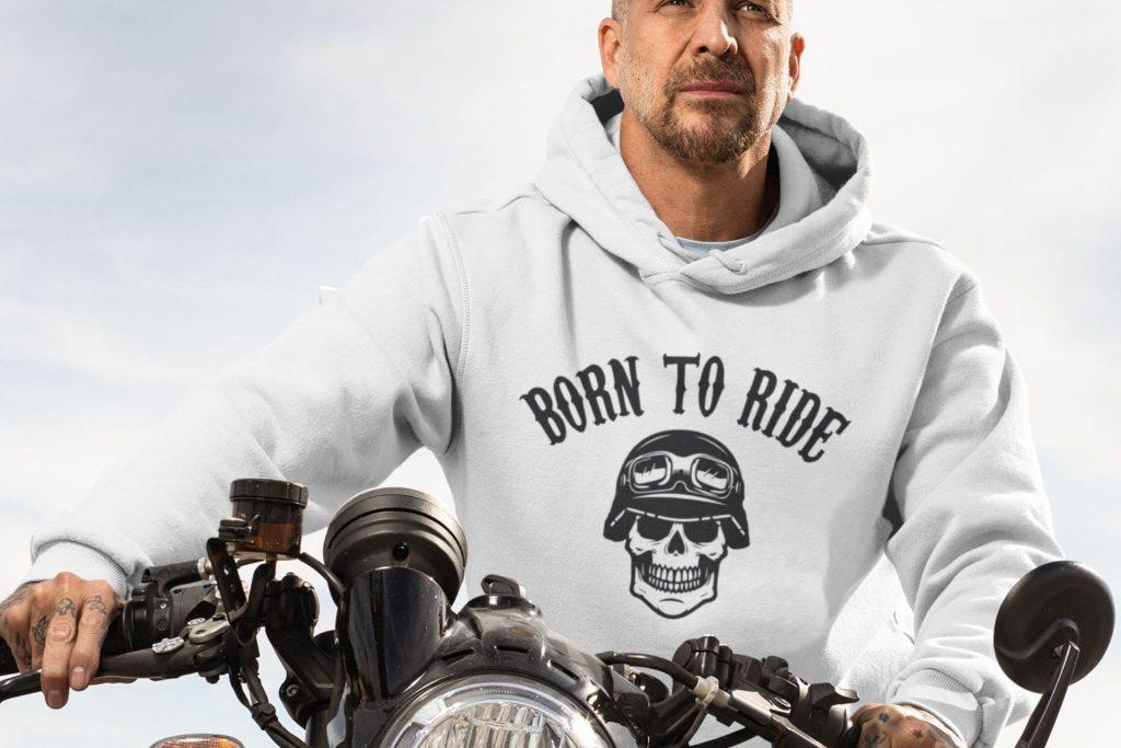 pull à capuche moto homme